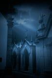 Cementerio europeo misterioso Fotos de archivo libres de regalías