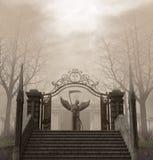 Cementerio fantasmagórico Autumn Statue de la entrada libre illustration