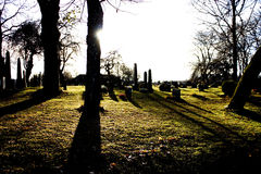 Cementerio frío y amargo Fotos de archivo libres de regalías