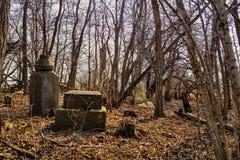 Cementerio frecuentado Imagen de archivo libre de regalías