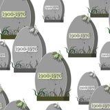 Cementerio grave del modelo inconsútil con un otoño del Web spider de araña Foto de archivo libre de regalías