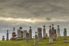Cementerio histórico en Luxemburgo Wisconsin Fotos de archivo