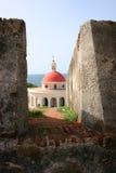 Cementerio histórico en Castillo San Felipe del Morro Foto de archivo libre de regalías