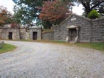 Cementerio holandés viejo de la iglesia en Nueva York hueco soñolienta Imagenes de archivo