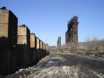 Cementerio industrial imágenes de archivo libres de regalías