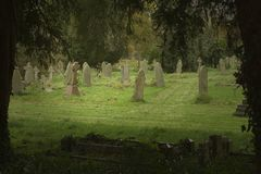 Cementerio inglés Foto de archivo