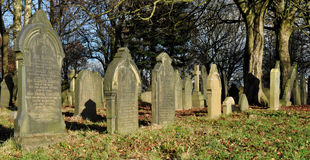 Cementerio inglés tradicional viejo Imágenes de archivo libres de regalías