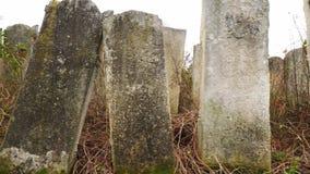 Cementerio judío abandonado almacen de metraje de vídeo