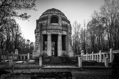 Cementerio judío en el dź del ³ del  à de Å, Polonia imagen de archivo libre de regalías