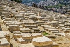 Cementerio judío en el monte de los Olivos, Jerusalén Fotografía de archivo libre de regalías