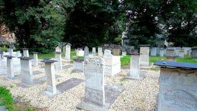 Cementerio judío en Kraków, Polonia almacen de video
