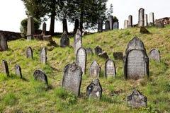 Cementerio judío en Nova del ¡de Lomnice u TiÅ Foto de archivo libre de regalías