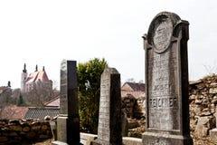 Cementerio judío en Nova del ¡de Lomnice u TiÅ Imagen de archivo libre de regalías