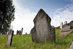 Cementerio judío en Nova del ¡de Lomnice u TiÅ Fotos de archivo libres de regalías