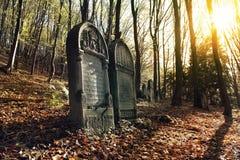 Cementerio judío viejo Imagen de archivo libre de regalías