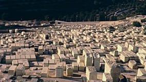 Cementerio jud?o de Jerusal?n almacen de metraje de vídeo