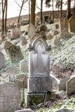 Cementerio judío, Trebic Fotos de archivo libres de regalías