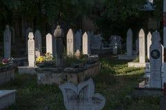 Cementerio, Karadjoz Bey Mosque, Mostar, Bosnia y Herzegovina, Europa, Islam, religión, lugar de culto fotos de archivo libres de regalías