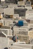 Cementerio La Habana de los dos puntos de las lápidas mortuarias Fotos de archivo