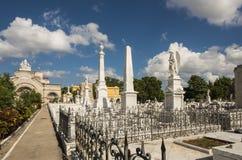 Cementerio La Habana de los dos puntos de los sepulcros Imagen de archivo