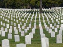 Cementerio Los Ángeles de los veteranos Fotos de archivo libres de regalías