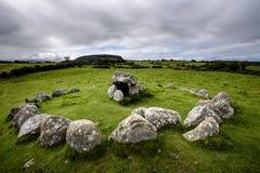 Cementerio megalítico de Tombe 7 Carrowmore Foto de archivo libre de regalías
