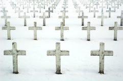 Cementerio militar Fotos de archivo libres de regalías