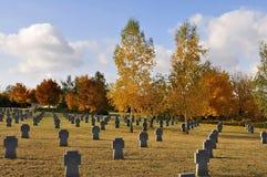 Cementerio militar Imagen de archivo libre de regalías