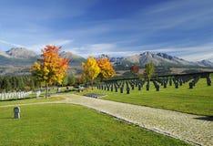 Cementerio militar Foto de archivo libre de regalías