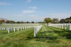 Cementerio militar Foto de archivo