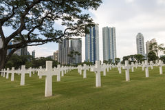 Cementerio militar de la guerra en ciudad foto de archivo libre de regalías