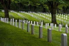 Cementerio militar de Lawton del fuerte, parque del descubrimiento, Seattle, Washington imagen de archivo libre de regalías