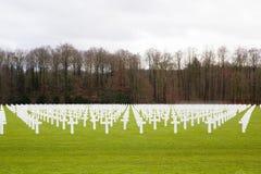 Cementerio militar de los E.E.U.U. en Luxemburgo imágenes de archivo libres de regalías