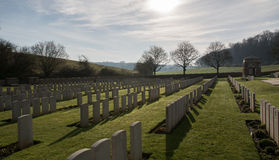 Cementerio militar en Francia (WW1) Foto de archivo libre de regalías