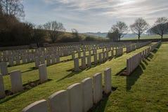 Cementerio militar en Francia (WW1) Imagen de archivo libre de regalías