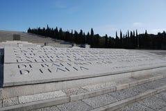 Cementerio militar en Italia Fotos de archivo libres de regalías