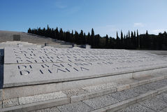 Cementerio militar, Italia Imagen de archivo
