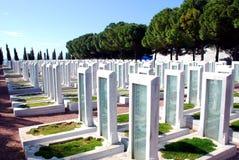 Cementerio militar turco Foto de archivo