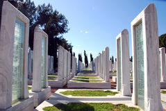 Cementerio militar turco Imagen de archivo libre de regalías