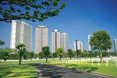 Cementerio militar urbano Imagen de archivo libre de regalías