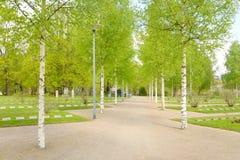 Cementerio militar viejo en Lappeenranta Fotos de archivo libres de regalías