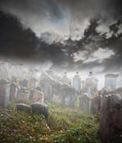 Cementerio misterioso Imagen de archivo libre de regalías