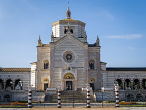 Cementerio monumental en Milano, Italia Imágenes de archivo libres de regalías