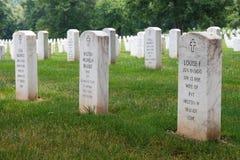Cementerio nacional de Arlington en Washington DC Imágenes de archivo libres de regalías