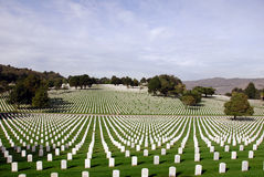 Cementerio nacional de Estados Unidos Imagen de archivo