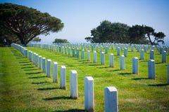 Cementerio nacional del pie Rosecrans en San Diego Fotos de archivo