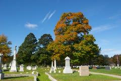 Cementerio pasado del resto en Merrimack, NH, los E.E.U.U. fotos de archivo