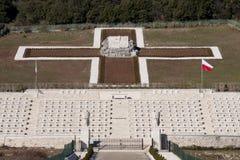 Cementerio polaco de la guerra Fotografía de archivo