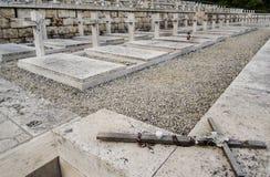 Cementerio polaco de WWII Imágenes de archivo libres de regalías