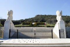 Cementerio polaco de WWII - Monte Cassino - Italia Imagen de archivo libre de regalías